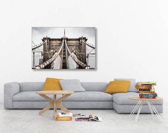 New York City Photography, Brooklyn Bridge Photography, Urban Landscape Print, Brooklyn Bridge Print, NYC Print