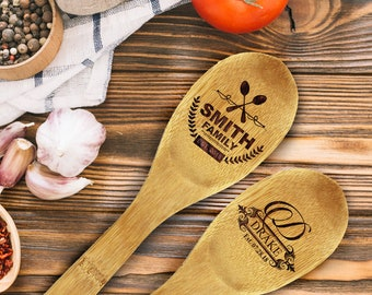 Bamboo Spoon, Engraved Wooden Spoon, Baking Party Favors, Chili Cook Off, Bridal Shower Favors, Cooking Gifts, Chef Gift, Bake Off Award