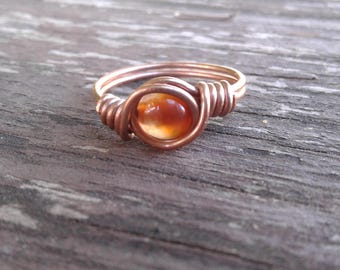 Agate ring - size 6 1/2