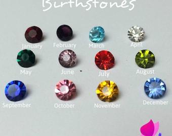 Birthstones Floating Charms, Birthstones for Living Lockets