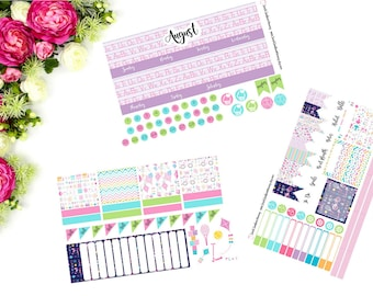 MONTHLY Erin Condren Back to School  Sticker Kit  August September
