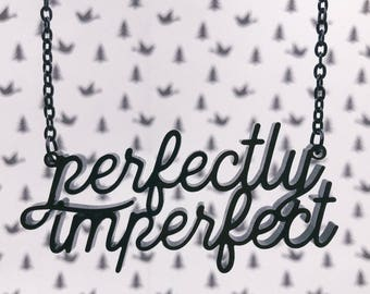 Perfectly Imperfect Acrylic Laser-cut Necklace