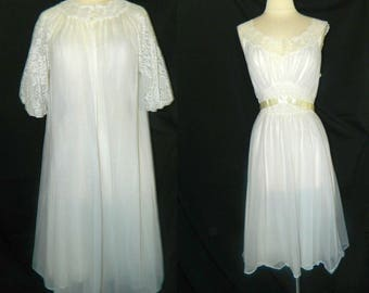 Vanity Fair Peignoir Set - Bridal Trousseau - Wedding Night - FREE SHIPPING