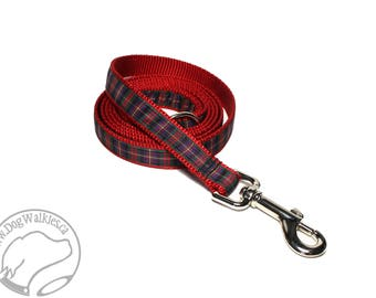 Cameron of Erracht Tartan Leash // Matching Tartan Dog Leash in all widths // custom lengths // Plaid Leashes // Tartan Lead // Handmade
