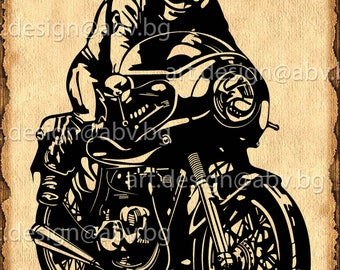 Vector MOTORCYCLE, AI, eps, pdf, svg, dxf, png, jpg Download files, Digital, graphical, motorcyclist, discount coupons