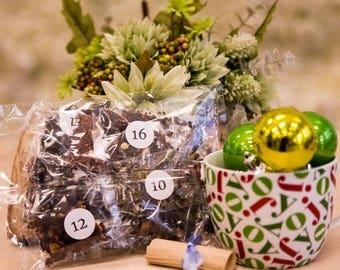 Tea Samples - Advent Calendar - Loose Leaf Tea Calendar - Advent Calendar for Women - Handmade - Zero Waste Low Waste Christmas