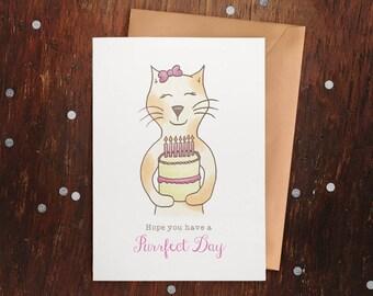 "Kitty ""Purrfect Day"" Birthday Card"