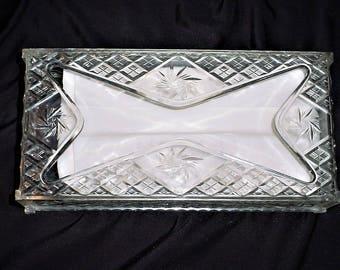Vintage Clear Plastic Kleenex Tissue Holder Box