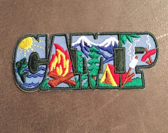 Camp Scout Merit Badge Camping Patch