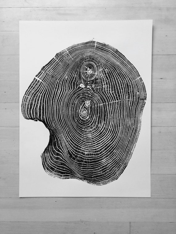 Mulberry Tree ring Print, Tree ring art print, Woodcut, real tree rings, Woodcut print, Tree Lover art, Manly gifts, Dad Gifts, Fathers Day