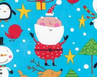 Merry Christmas - By David Walker - From Free Spirit - North Pole - Merry (PWPW126) - 1 Yard - 7.50 Dollars