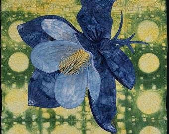 Handmade Art Quilt - Columbine