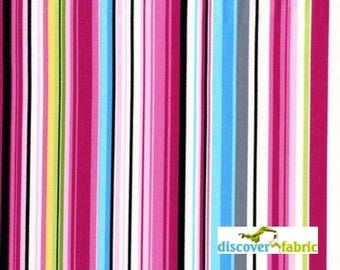 Delightful Stripe  Cotton Fabric By Michael Miller Cotton Fabric Sold By the Half Yard In One Continuous Cut