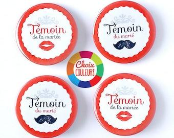 Kit witness customizable mustache (color) 38 mm badges