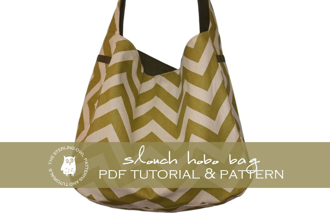 Slouch hobo bag pdf tutorial and pattern zoom jeuxipadfo Image collections