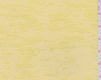 Butter Yellow Microrib Burnout, Fabric By The Yard