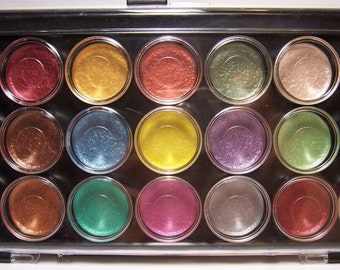 Niji Watercolor Paint Set 21 Pearlescent Colors - Mica Powder Effects for Paper Crafters in paint form!