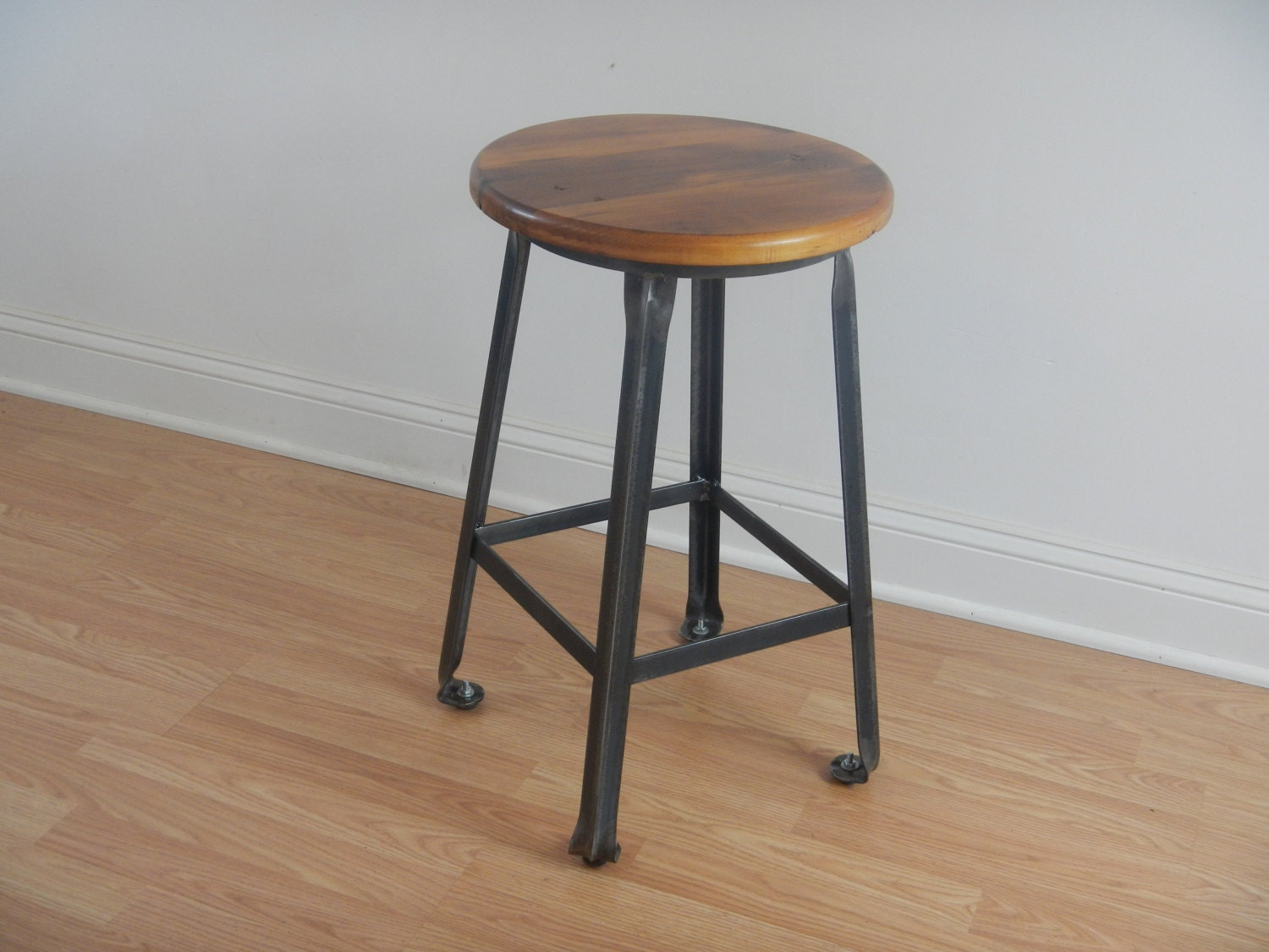 Industrial Style Bar Stools Set Of Five Contemporary