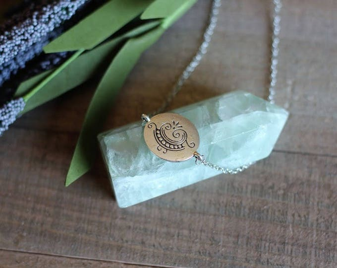 Handcrafted jewelry, silver charm choker necklace