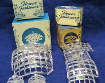 5 Gadjo Flower Fashioner Flower Arrangers Vintage 1960s Floral Frogs, Wedding Decor, Floral Arrangments