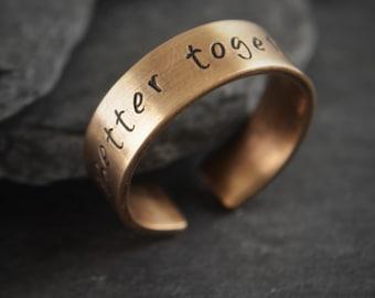 Bronze Ring. Bronze anniversary. 8th anniversary. 19th anniversary. Bronze. Bronze gifts. Bronze jewelry. Bronze gift for her. Bronze gift.