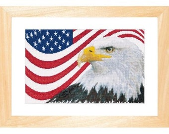 Thea Gouverneur American Eagle Counted Cross-Stitch Kit