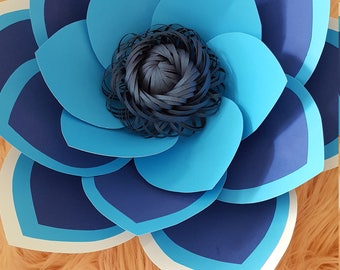 Paper Flower Template and Base PDF digital file  and Svg file centre (as on photo)# 48