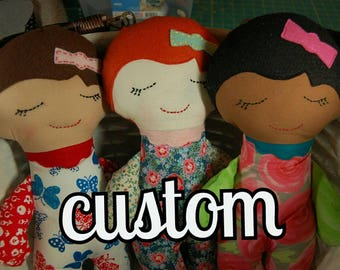 Handmade dolls, Custom Order options, Baby dolls, Bride Dolls, Girl Dolls