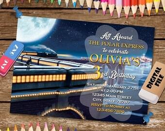 ON SALE 30% The Polar Express Invitation. Polar Express Birthday Invitation. Polar Express Digital Invitation. The Polar Express Printable.