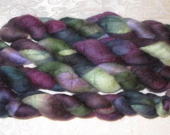 Handpainted Rovings -- Blueface Leicester Wool