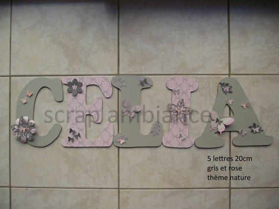 Lettre Prénom Bois Prénom De Porte Prénom En Bois Plaque - Plaques de porte décoratives