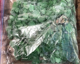 6lbs of green seaglass