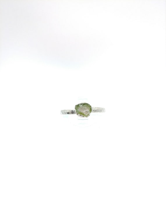 Watermelon Tourmaline Ring   Sterling Silver Ring Sz 9   Raw Tourmaline Ring   Raw Crystal Ring   Uncut Gemstone Ring   Pink Crystal Ring