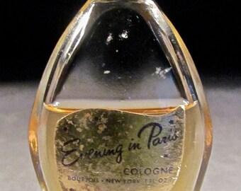 vintage EVENING IN PARIS cologne 1950s/1960s bourjois*new york 1 fl. oz.