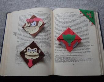 Laminated Super Smash Bros Corner Bookmarks: Donkey Kong, Diddy Kong, Samus, Metroid