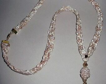 ON SALE: Fiber Fantasy Fairy Necklace, Handknit chain