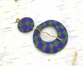 Scarf Pin - Shawl Pin - Sweater Brooch - Circle