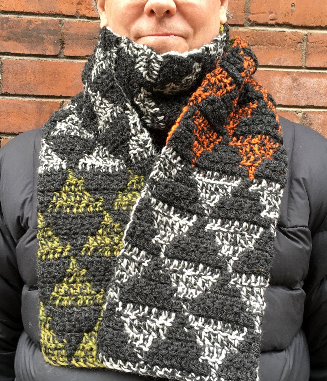 Mens Scarf CROCHET PATTERN, Mens Crochet Scarf Pattern, Crochet ...