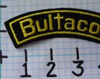"Vintage ""Bultaco"" Motorcycle Patch (002)"