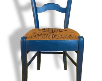 Chair peasant kinfolk blue