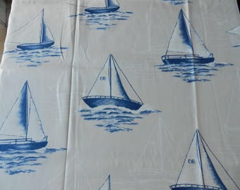 Cut of fabric, sea style