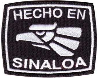 Sinaloa Hecho en Mexico Embroidered Patch