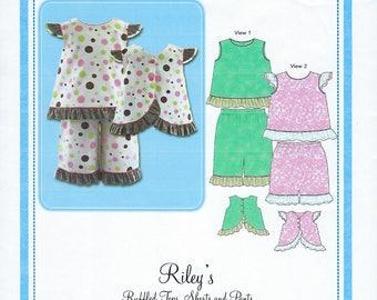 Bonnie Blue Pattern #130 / RILEY / Sizes 6 mo - 6 yrs