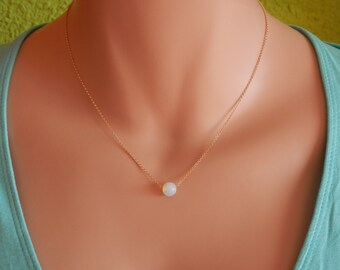 Bridesmaid gift Dainty gold necklace Dainty opalite Necklace  moonstone necklace gold dainty opalite choker moonstone choker opalite jewelry