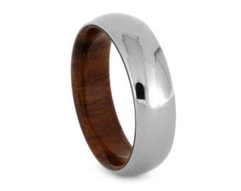 Ironwood Wedding Ring for Men, Ironwood with Titanium Sleeve, Men's Wedding ring, Signature Style