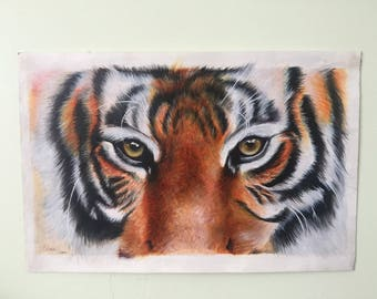 Original Tiger Painting A4 Acrylic Paints