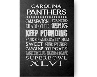Carolina Panthers Chalkboard Digital Download