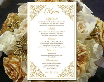 final cut pro wedding templates - printable wedding menu card template coral menu card wedding