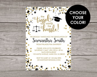 Law School Graduation Invitation Printable