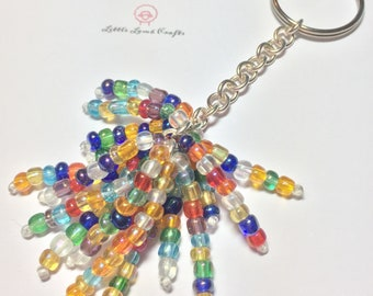 Colourful Fireworks Keychain FREE UK P&P